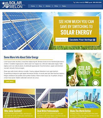 solar website development example