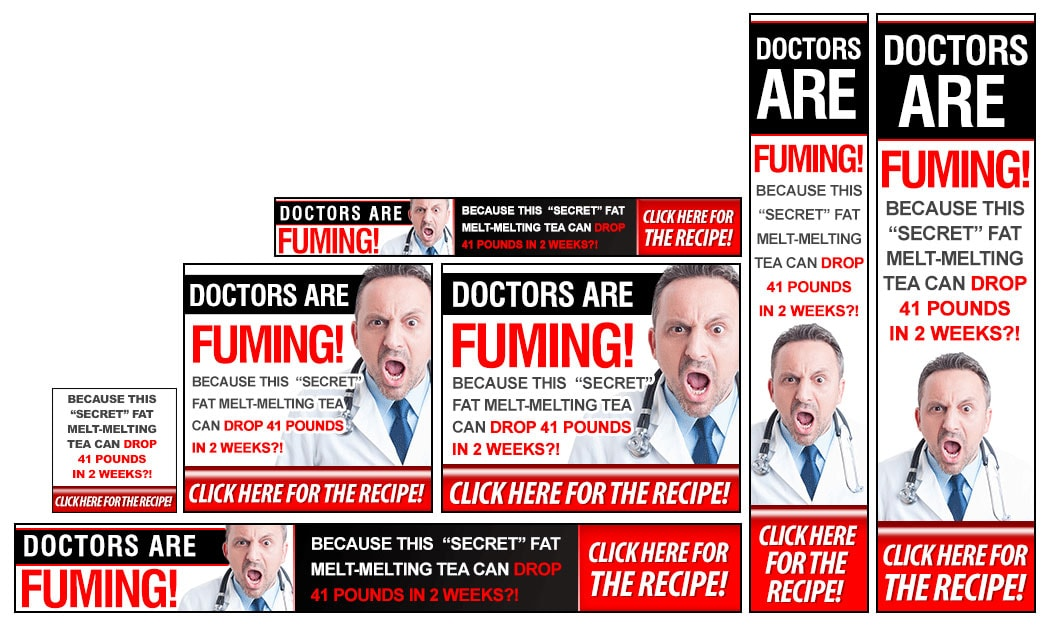 angry doctor banner set example