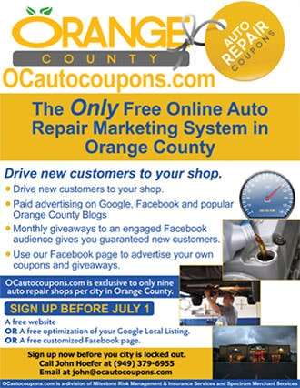 orange cars flyer example
