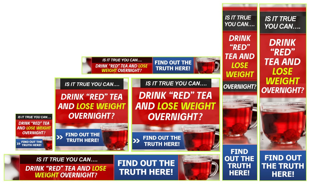 red tea diet banners set