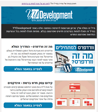 yydevelopment newsletter example