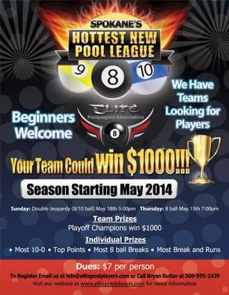 pool club flyer design