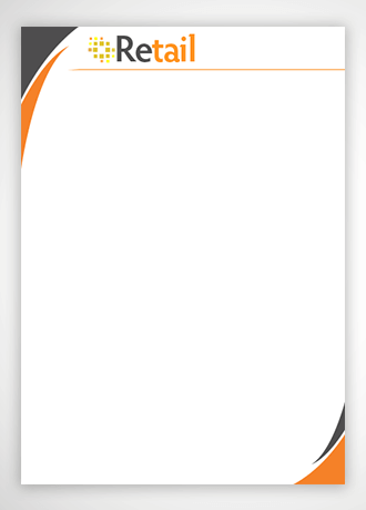 letterhead design for retail