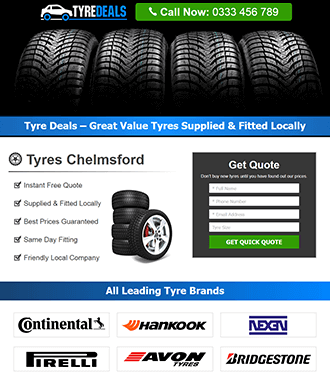 Tires Wordpress Landing Page