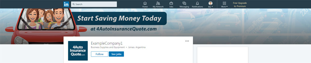 Linkedin Banner Design For Auto Insurance
