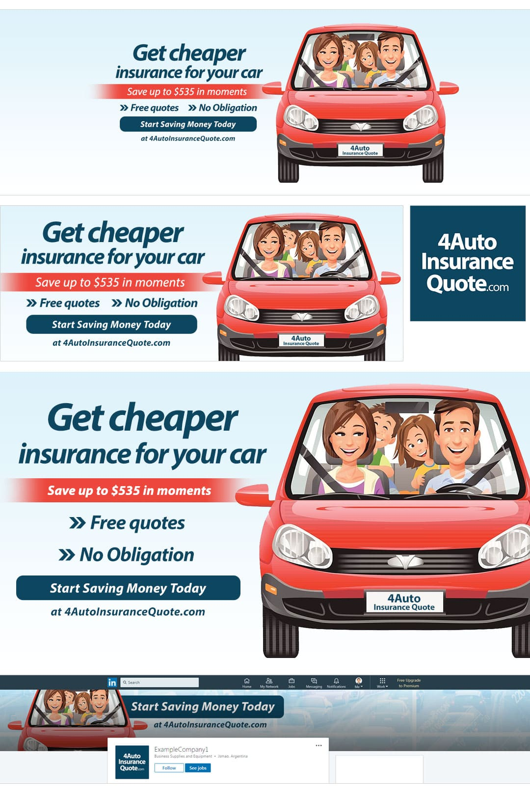 Car Insurance Social Media Package Example