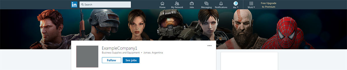 games site linkedin banner design