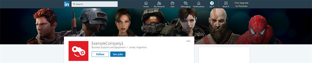 games site linkedin banner example