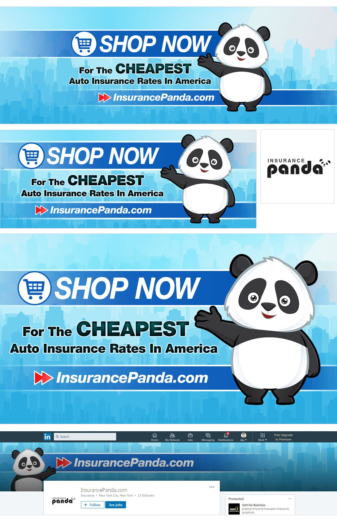 Social Media Package Example for Insurance Panda