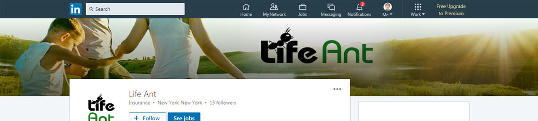 Life Insurance Linkedin Banner Design