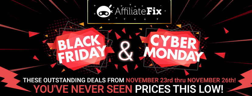 Black Friday Facebook Cover For AffiliateFix