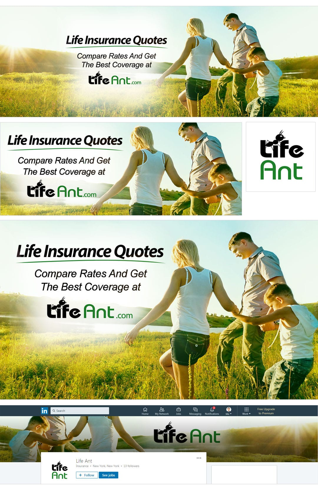 Life Insurance Social Media Package Design