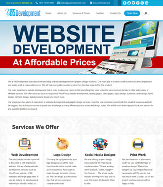 Website Development for Graphic Design Company