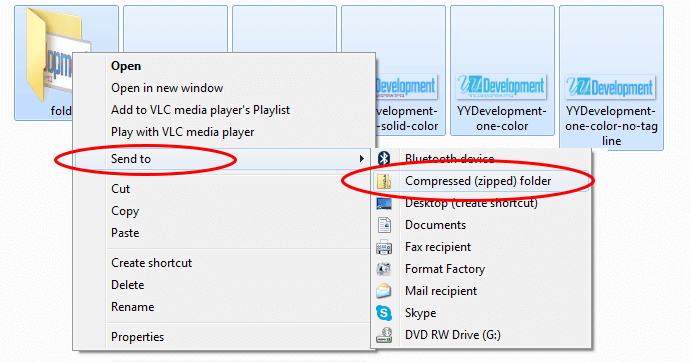 Create ZIP File In Windows