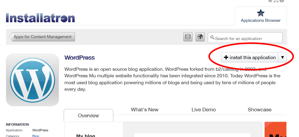 Install This WordPress Button In Godaddy