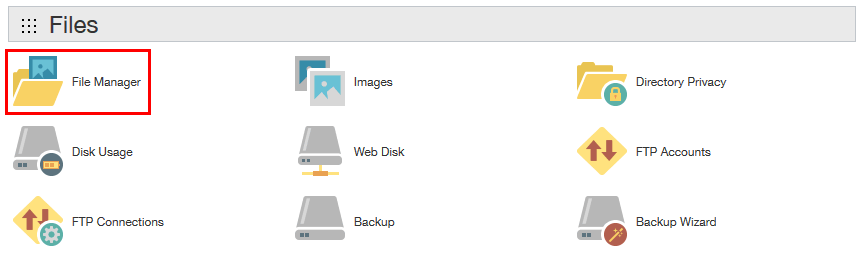 Open File Manager On Godaddy