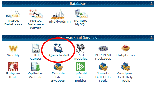 Quick WordPress Install Button In Hostgator