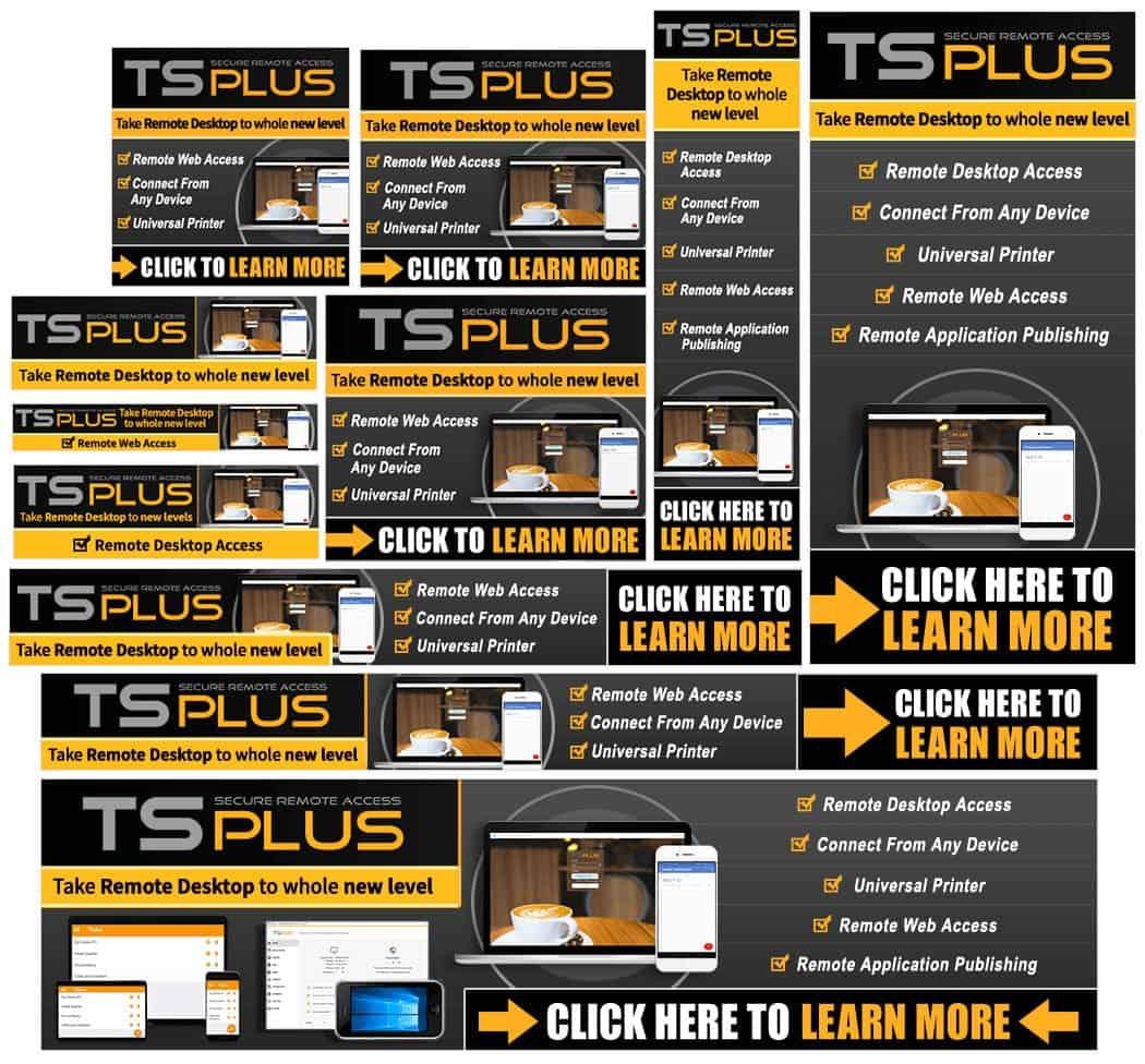 TSPlus APP Banners Set For Google