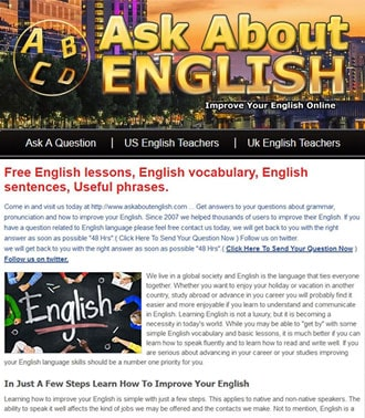 English Teaching Wordpress Website