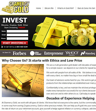 Wordpress Website For Gold And Crypto Coins