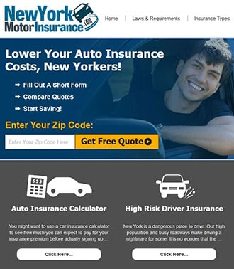 Motor Insurance Website Example