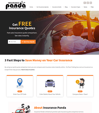 Car Insurance Website Example